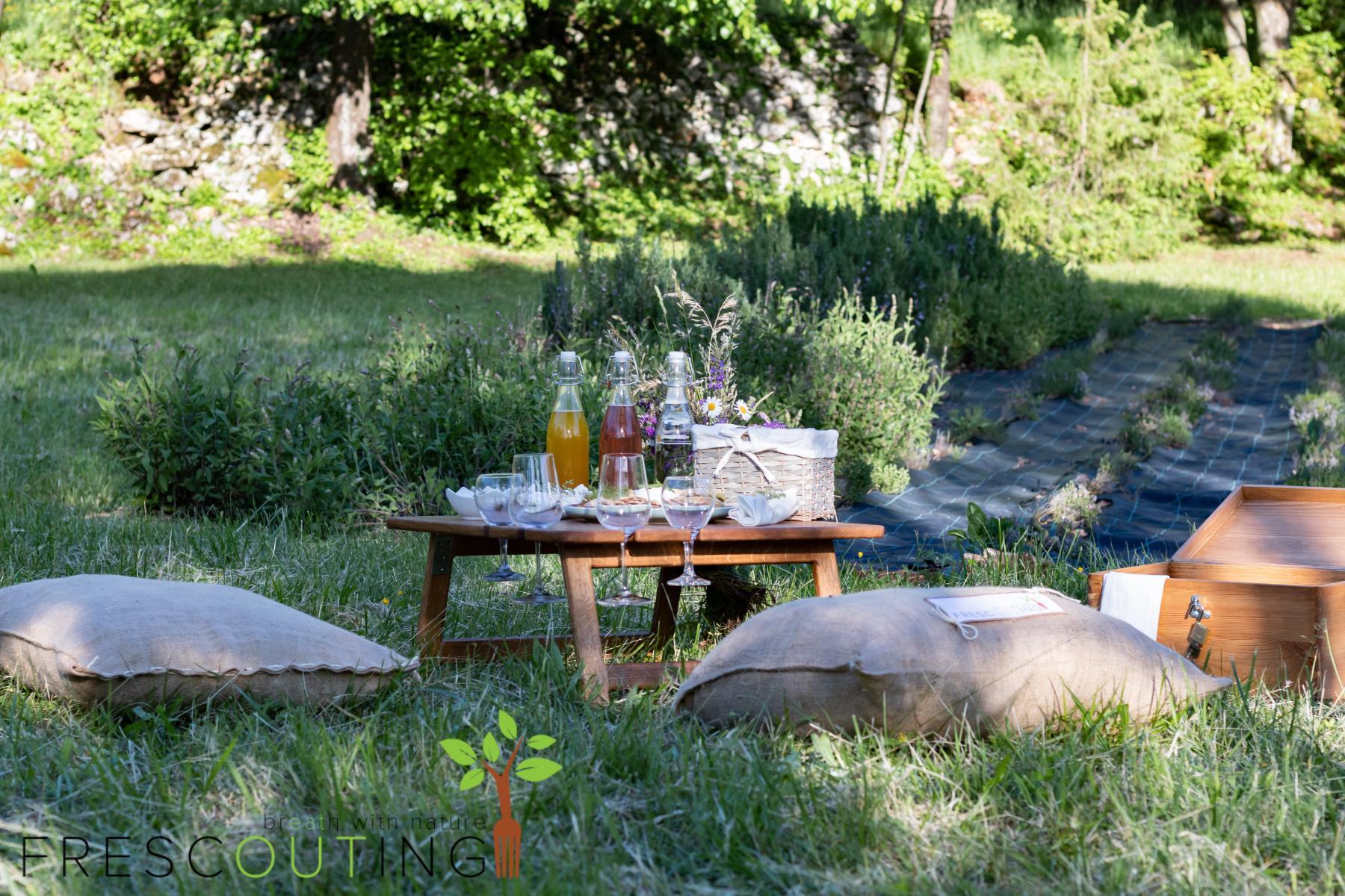 Frescouting jedilnica v naravnem okolju